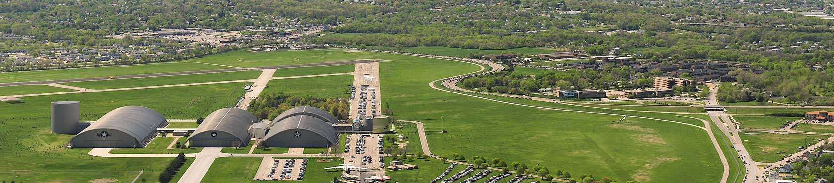 Aerial shot of Wright Patt Air Force Base